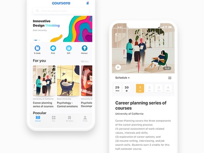 Coursera Application Interface Design degree academic course online education ios11 design interface mobile ue ux ui