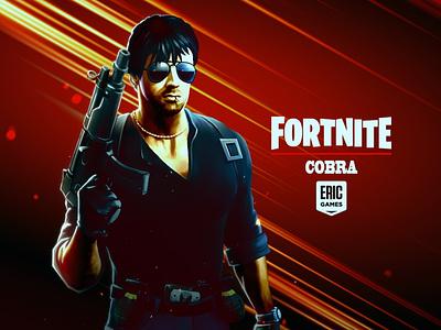 Stallone Cobra in Fortnite) illustration poster design graphic design character cobra concept