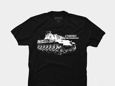 panther tank  T-shirt graphic design illustration game design poster concept t-shirt