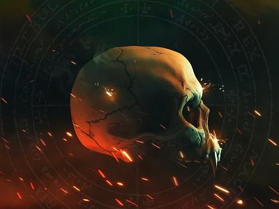 VAMPYR - skull illustration graphic design game character poster design sketch concept skull vampyr