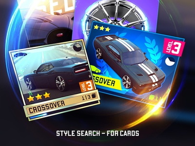 style search - for cards logo vector ui design concept games cards ui cards search style