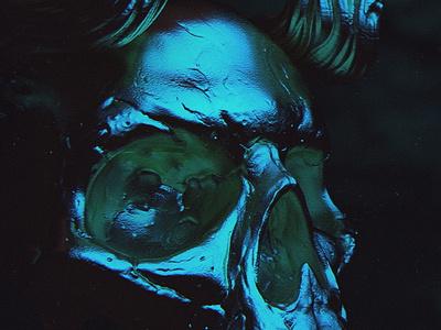 horned vampire skull game design poster character skull vampire horned