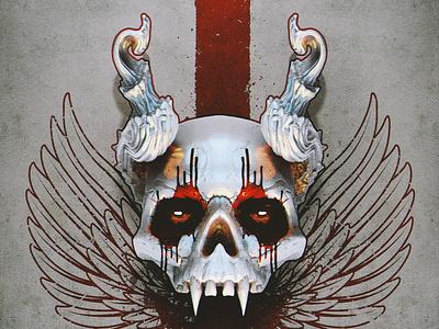 vampire skull game skull logo graphic design poster design character concept