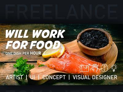 Will work for food logo ui graphic design poster design illustration sketch game concept
