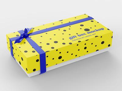 Large Carton Gift Box Mockup