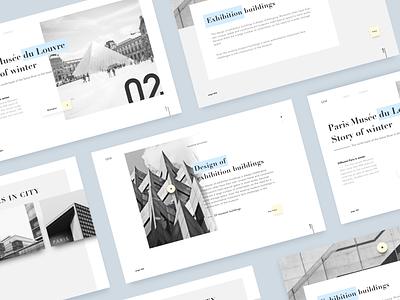 Web design exercises-SEM design color plain layout building museum web black white