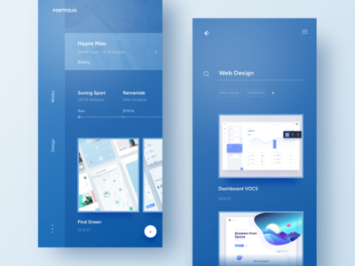 Collection Design portfolio collection layout ui work blue design