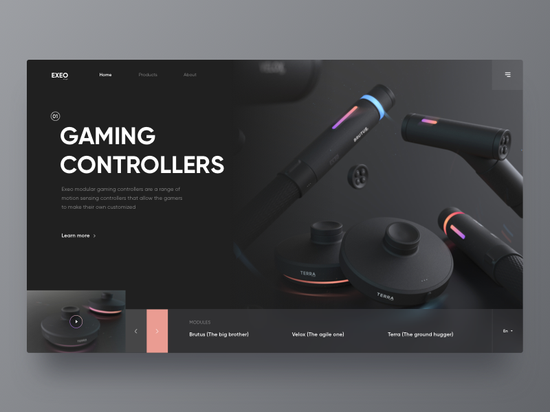 Exeo Gaming Web color game handle design black web gaming