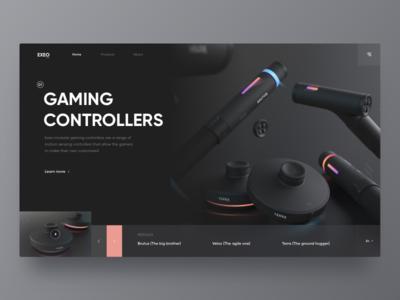 Exeo Gaming Web color game handle design black web gaming