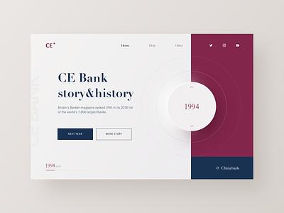 Cebank Web layout year story bank clean rad design web