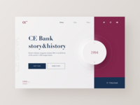 Cebank Web layout year story bank clean rad design web