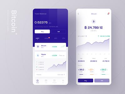 Bitcoin Exchange wallet bitcoin btc blue clean ui app finance