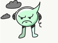 Angry balloon man