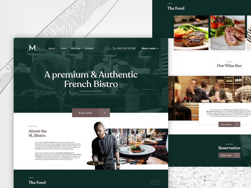 M. Bistro | Landing page webdesign french landing page website web restaurant food ux ui