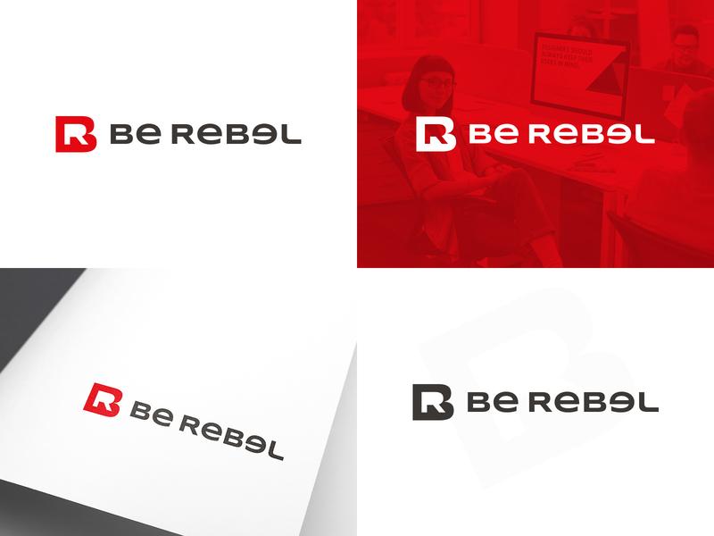 Be Rebel | Logo design concept web branding logo