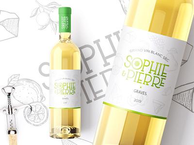 Sophie & Pierre   Label design wine wine label label packaging label design branding