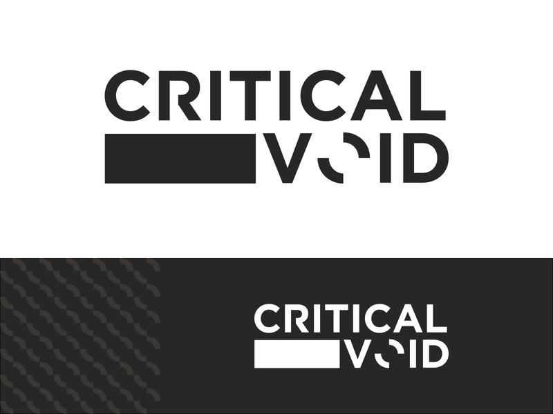 Critical Void | Logo design concept web typography vector logo branding