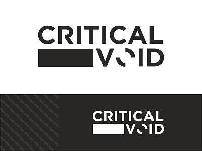 Critical Void   Logo design concept web typography vector logo branding