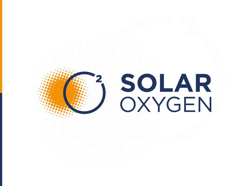Solar Oxygen | Logo design oxygen health solar logo branding