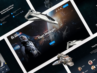 Fleet Manager for Star Citizen space videogame website web ux ui