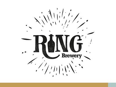 Ring Brewery   Logo design print design brewery logo brewery beer branding logo