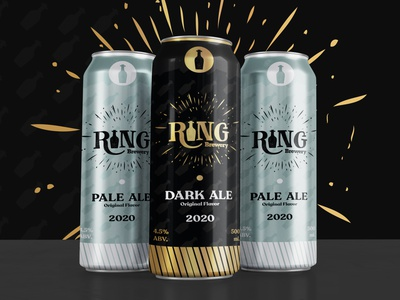 Ring Brewery | Can design branding print beer beer can can packaging