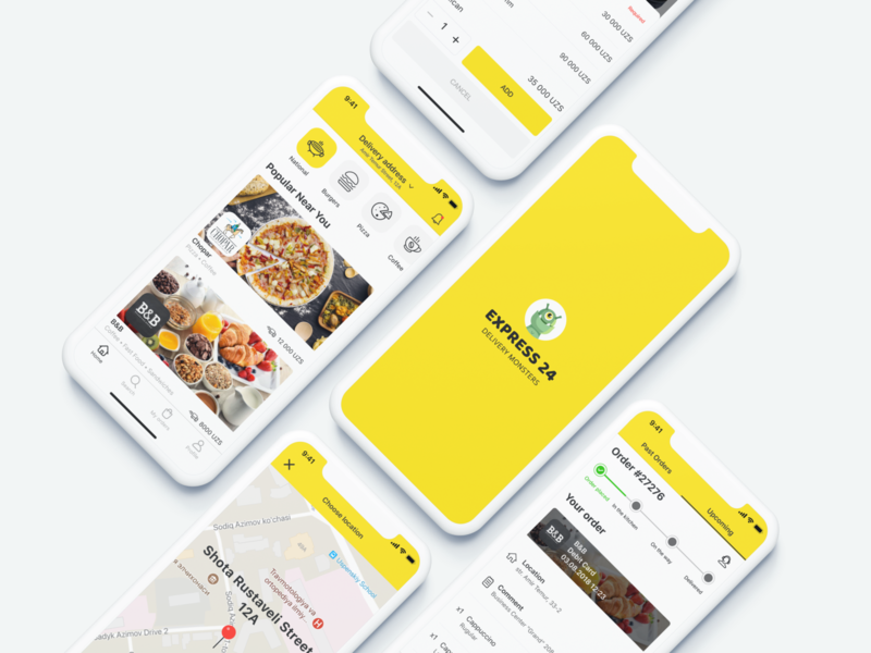 Food Delivery App #1 shot illustration hello branding food illustration ux ui logo dribbble ios apple delivery app food app