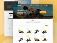 Rent Equipment branding icon vector design dribbble shot ux ui hello heavy equipment heavy rent