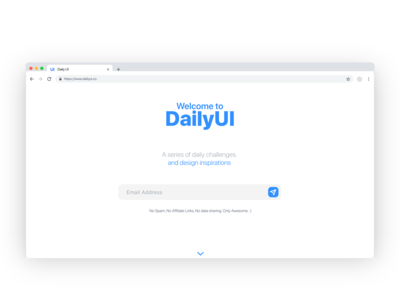 Daily UI 001 - Sign Up Page