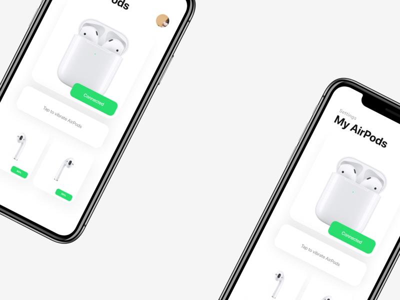 Daily UI - 007 design minimal screen airpods settings daily ui 001 apple daily ui 007 daily ui dailyui ui