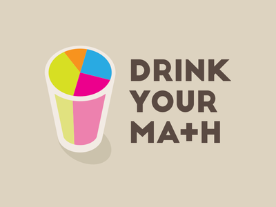 Drink Your Ma+h glass math brand logo