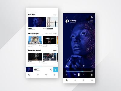 Music Player - UI Practice music app song music player uxdesign ux uidesign ui square sleep purple practice minimal inspiration design dailyui color clean blue app
