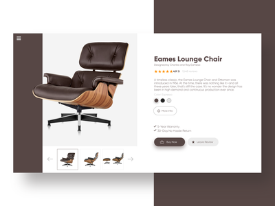 Daily UI #5 - Product Page grid square herman miller product chair brown interface web desktop uxdesign ux uidesign ui practice minimal inspiration design dailyui