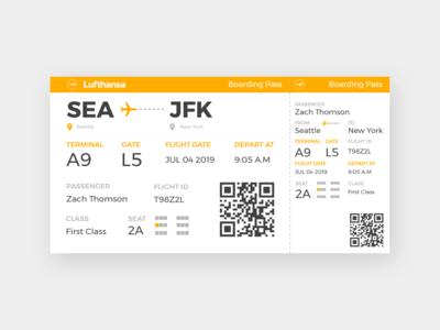 Daily UI #6 - Boarding Pass