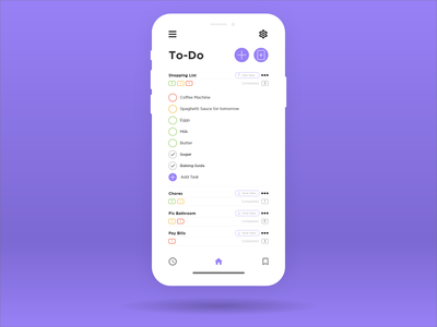 Daily UI #14 - To-Do uxui uxdesign uidesign ux ui purple organize minimal clean flat inspiration dailyui to-do task list task