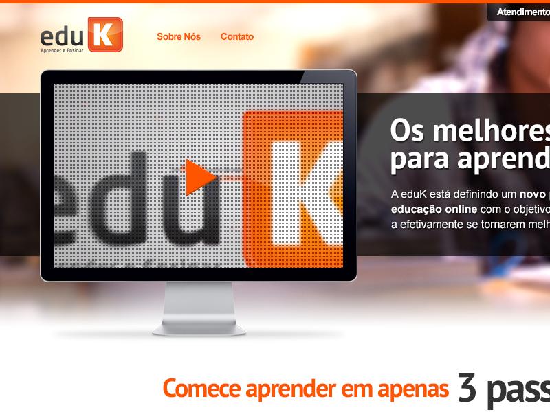 New eduK home, my version website webdesign