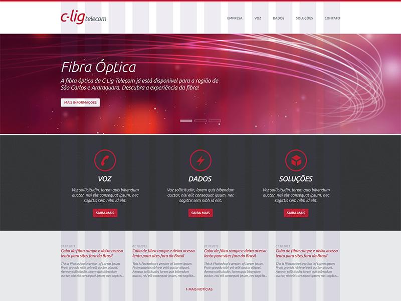 C-Lig Telecom Website website webdesign grid wip