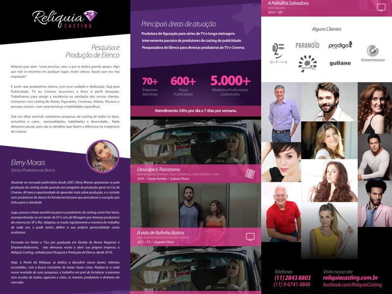 Reliquia Casting: Presentation Email email
