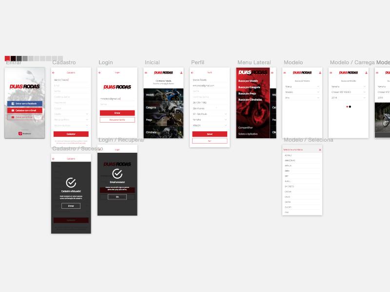 WIP: DuasRodas App - More Screens sketch interface iphone ios ux ui app wip