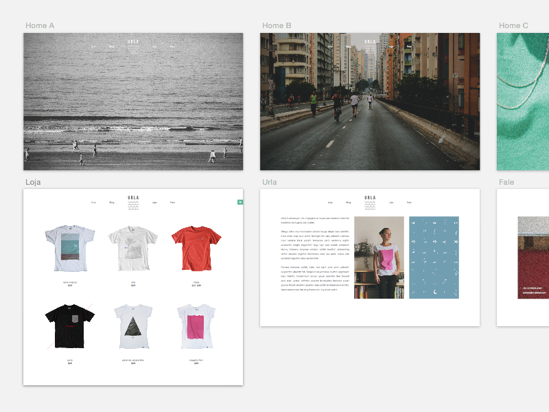 WIP: Urla Store Website fashion t-shirt ui web wip minimal ecommerce store website