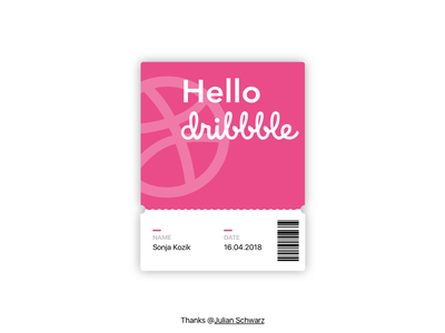 Hello Dribbble! design shot first debut