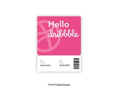 Hello Dribbble! design shot first debut