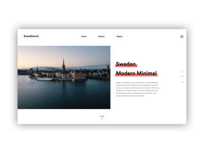 Website Exploration #1 modern simple minimal ui design website web