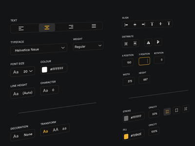 Tool Panel minimal dark ui desktop app design ui