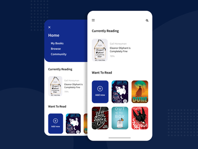 Book Reading App web minimal website ux app ui design