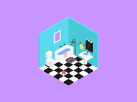 2.5D bathroom
