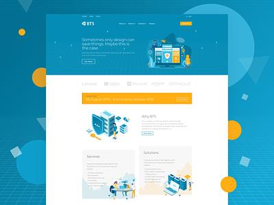 IT Services Landing web webdesign uiux ui solutions services hosting branding landing page landing agency touchsize