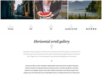 Image gallery post layout