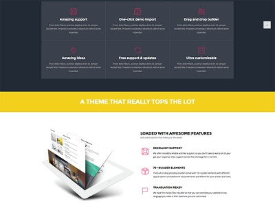 About presentation page icon box wordpress freebie icon description business agency about us