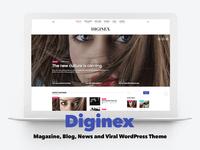 Diginex - Magazine, Blog, News and Viral WordPress Theme
